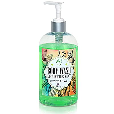 AJ Pure Luxurious Natural Body Wash, Perfect for Sensitive Skin, Artisan Crafted with Organic Ingredients, Safe for the Whole Family, 16 Fluid Ounce