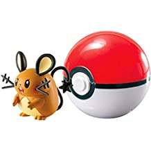 Pokemon Clip n Carry Pokeball Dedenne & Poke Ball Figure Set