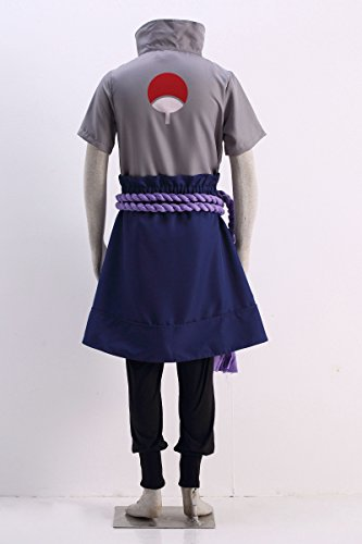 OURCOSPLAY Naruto Uchiha Sasuke Men's Cosplay Costume 5Pcs (Men M) by OURCOSPLAY (Image #3)
