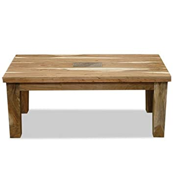 VERTY FURNITURE Table Basse en Bois Massif Ardoise véritable en Lay ...