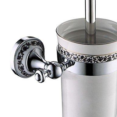 XY&XH Toilet Brush Holder , Bathroom Accessories Solid Brass Toilet Brush Holder