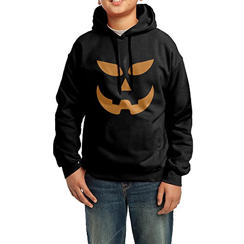 Halloween Snow Globe Costume (Teen Youth Scary Halloween Pumpkin Sketch Hoodie Sweatshirt)