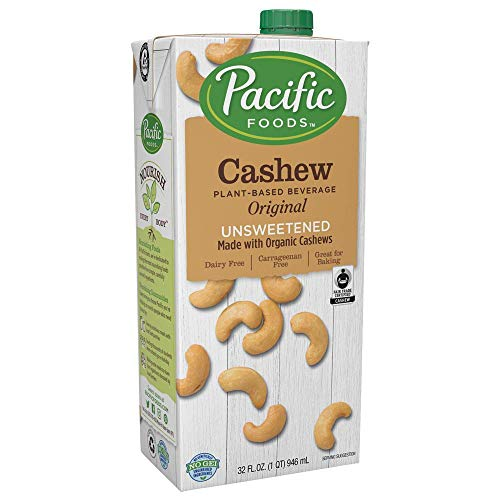 Pacific Foods Cashew Unsweetened Original Plant-Based Beverage, 32oz
