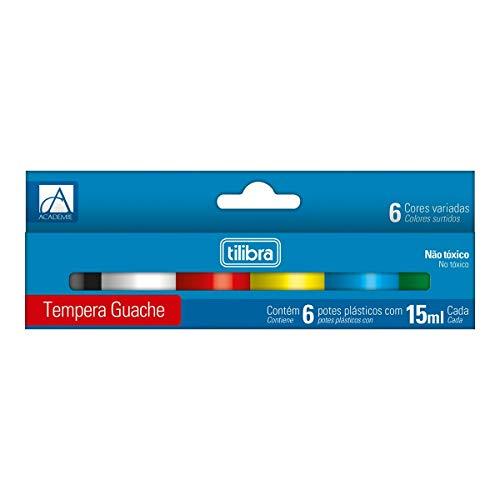 Tinta Guache 15ml Tilibra, Académie, 286052, 6 Cores