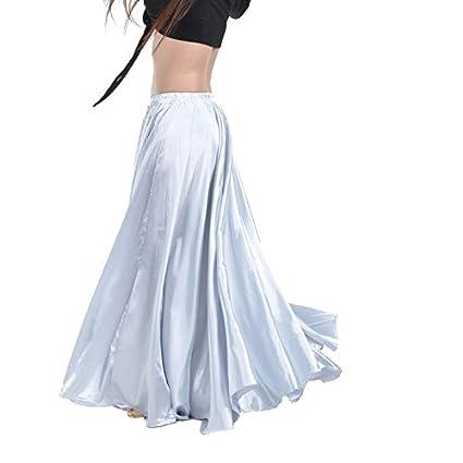 Calcifer satén largo Swing danza del vientre falda disfraz baile ...