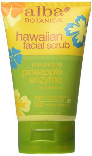 Alba Botanica Pore Purifiant enzyme d'ananas Gommage hawaïenne, 4 Tubes Ounce