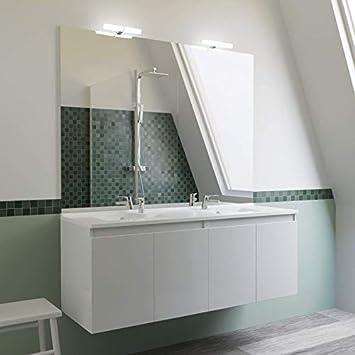 Meuble Salle De Bain Double Vasque Proline 140 Blanc
