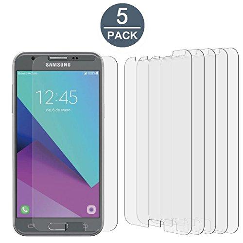 - [5 Pack] Samsung Galaxy J3 Emerge / J3 (2017) / J3 Prime / J3 Luna Pro High Defintion Ultra Clear Screen Protector Film(Not Glass) for Galaxy J3 Emerge(HD Clear)