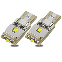 Safego2x T10 W5W 168 194 LED Wedge Bulb For Car Signal Interior Door Reading Light 3PCS CREE 9W Pure White 6500K