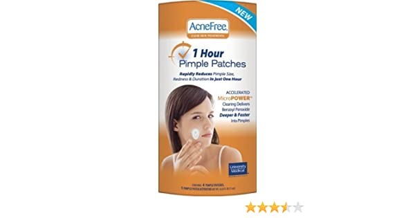 Amazon. Com: acnefree 1 hour pimple patches (4 patches 1 activator.