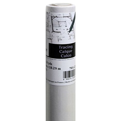 Canson Foundation Series Tracing Paper Roll for Craftwork, 25 Pound, 36 Inch x 20 Yard Roll by Canson