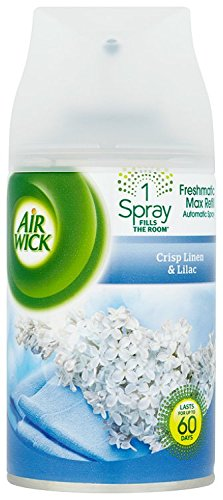 Air Wick Freshmatic, Crisp Linen & Lilac Auto Spray Air Freshener, 250 ml...