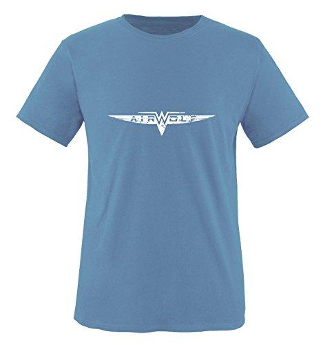 Hellblau wolf Courtes shirt Air T Bleu Weiss Manches Homme 0qdxP