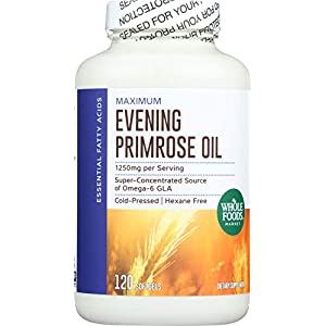 Whole Foods Market, Evening Primrose Oil 1250mg, 120 ct