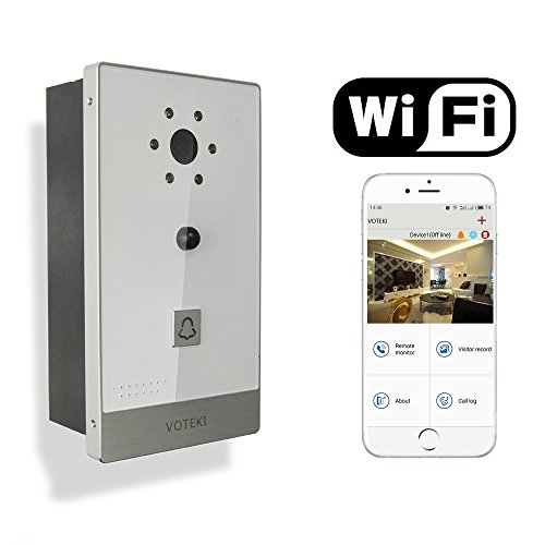 VOTEKI Aluminum Smart WiFi Doorbell Chime Intercom with Motion Detection Sensor and HD Night Vision Camera Support Apple IOS and Android Smart Phone by VOTEKI (Image #7)