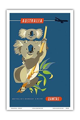australia-koala-bears-qantas-empire-airways-qea-vintage-airline-travel-poster-by-harry-rogers-c1960s