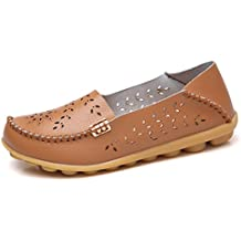 VenusCelia Women's Breathable Natural Walking Flat Loafer