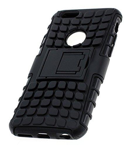 imobi Outdoor Dual Étui de protection pour Apple iPhone 6Plus/6S Plus avec support, Protection optimale contre les chocs et les chutes noir