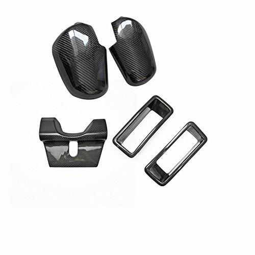 (Carbon Fiber For NISSAN Skyline R32 GTR Mirror Cover+Exhaust Heat Shield+Front Bumper Vents Air Ducts Set Kits 5pcs)