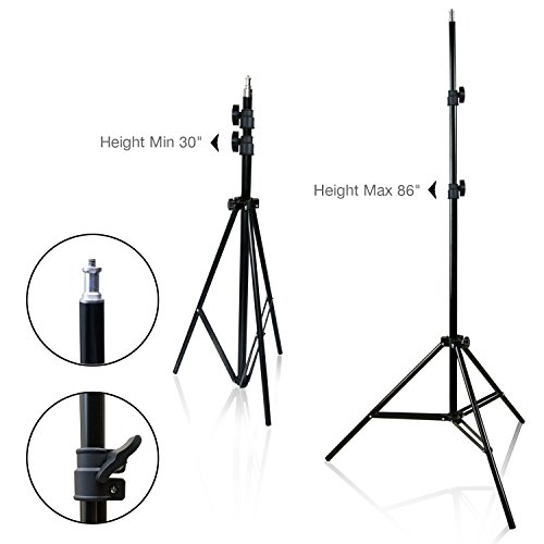 LimoStudio 2-Pack Reflector Dish Metal Lamp with Continuous Lighting Bulb and Umbrella Reflector, Lamp Socket and Umbrella Reflector Holding Slot, Light Stand Tripod, Photo Studio, AGG2604V2 by LimoStudio (Image #3)