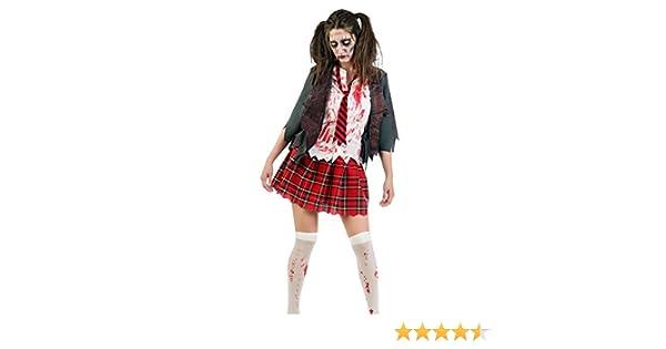 Disfraz de zomb chica de instituto disfraz de terror de 3 piezas ...