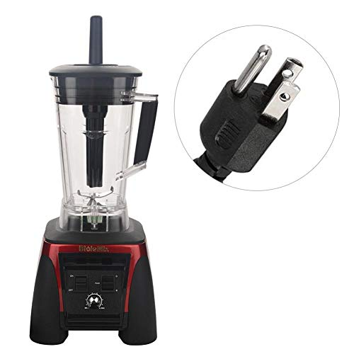 Juicer 2200W Electronic Commercial Blender Food Processor Mixer Smoothie Machine (US Plug 110V-Red) by Aramox (Image #6)