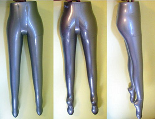 LIKE SHOP Silver Inflatable Women Female Mannequin Half Body Legs Form