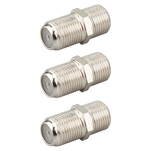 KOSMA (3-Pack) F-Type RG6 Female ot Female Coax Cable Adapter Connector for Coaxial Video Cables Extension