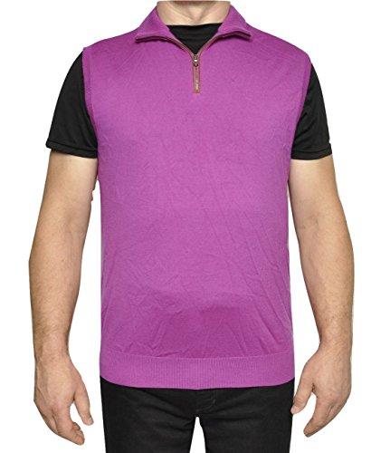 Ralph Lauren Wool Vest (Polo Ralph Lauren Golf Merino Wool Half Zip Mockneck Vest Sweater (Large, Purple))