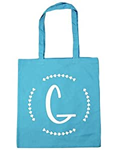 G Initial Tote Shopping & Gym & Beach Bag 42cm X 38cm with Handles By Leiacikl22