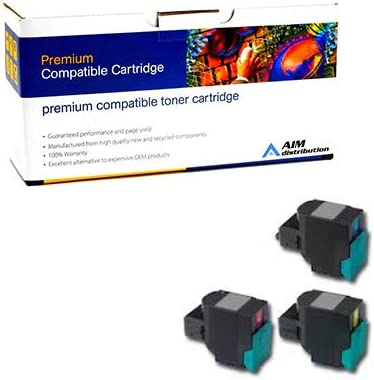 AIM Compatible Replacement for Lexmark C540//543//544//X544//546//548 GSA Jumbo High Yield Toner Cartridge Combo Pack - Generic C//M//Y C540A4XCMY