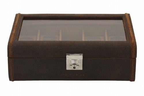 Friedrich|23 Uhrenkasten Cubano Leder braun für 8 Uhren 29 x 19 x 9 5 cm 27022-3 -