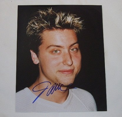 'N Sync No Strings Attached Sexy Lance Bass Hand Signed Autographed 8x10 Glossy Photo Loa ()