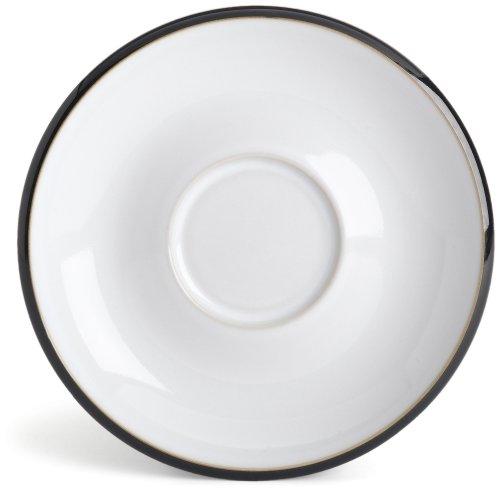 Denby Jet White Tea Saucer - Coffee Denby White