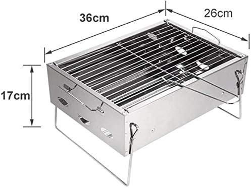 Barbecue HZY Pliable au Charbon, Simple Portable Grill for Cuisine de Plein air Camping Randonnée Pique-Nique Jardin Voyage 36 * 26 * 17cm