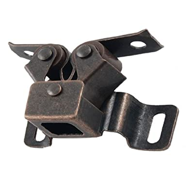 Uxcell a12041600ux0036 Uxcell a12041600ux0036 Copper Tone Brass Cabinet Closet Door Double Ball Latch Catch, Copper