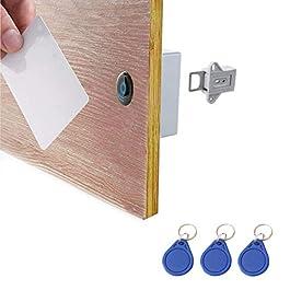 ETEKJOY RFID Electronic Cabinet Lock Hidden DIY for Wooden Cabinet Locker Drawer Cupboard (Gray)
