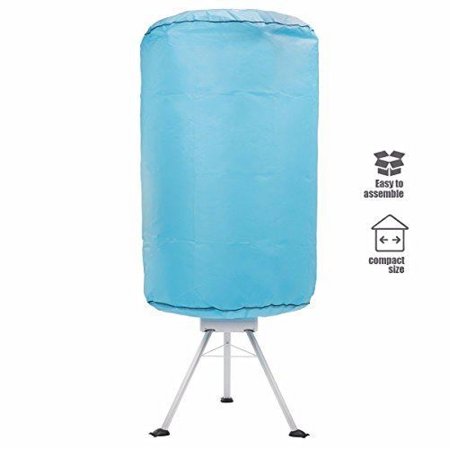 9TRADING Portable Ventless Laundry Clothes Dryer Folding Drying Machine 900 watt Heater, Free Tax, Delivered Within 10 Days