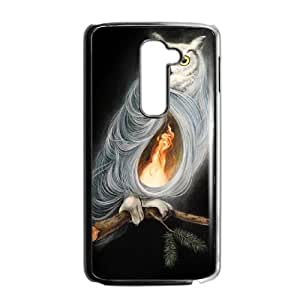 Protective TPU cover case the owls are not what they seem by dan may LG G2 Cell Phone Case Black