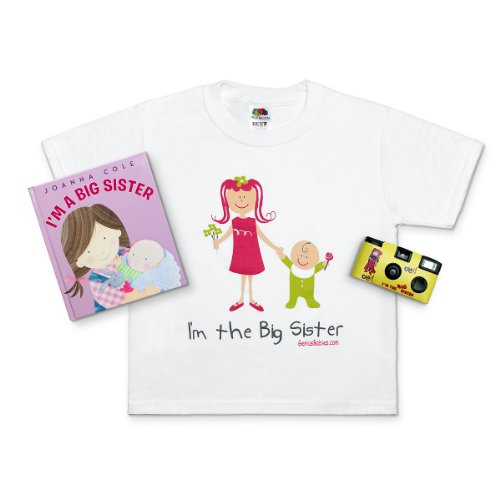 I'm the New Big Sister! Gift Bundle  (Big Sis T-shirt, Book