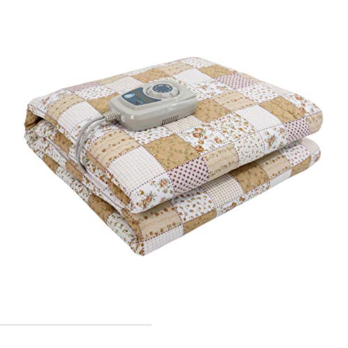 GX&XD Queen Size Heated Blanket,Safety Radiation-Free Heated Throw Thicken Electric Throw Time and Temperature Control Auto Shut-Off Cotton Heated Throw-A 160x200cm(63x79inch)