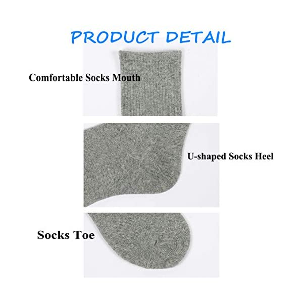 Gifts - Breathable Compression Socks Mid-Calf Crew Socks For Women Men 3