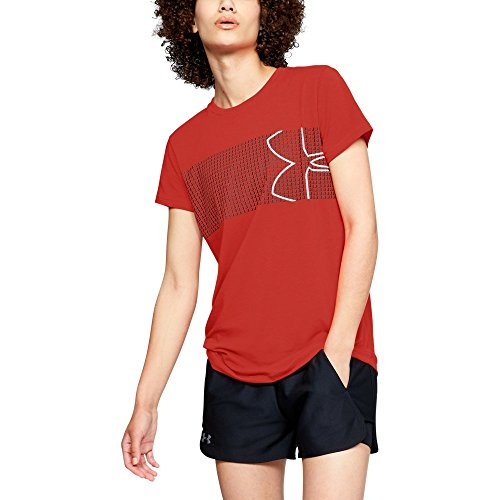 7fe0eafe55c Galleon - Under Armour Women's Graphic Classic Crew Chest Logo, Radio Red  (890)/White, Large