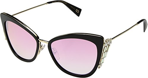 Marc Jacobs Women's Crystal Embellished Cat Eye Sunglasses, Black/Pink, One - Sunglasses Eye Cat Jacobs Marc