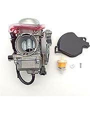 BGTR Motorcycle Carburetor, Compatible with Kawasaki Prairie 360 KVF360 KVF 360 2008-2012 4X4 Carburetor Carbon Fiber Replacement Parts