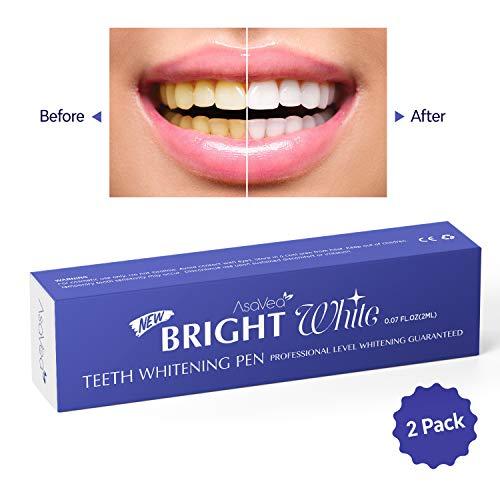 AsaVea Teeth Whitening Pen 2 pens More Than 20 Uses Effective Painless No Sensitivity Travel