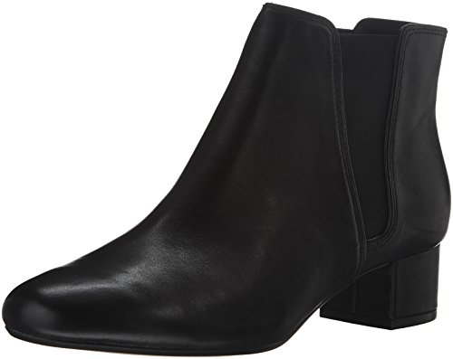 Clarks Women's Cala Jean Black Leather Boot 9.5 B (M) 9VGTiFY75