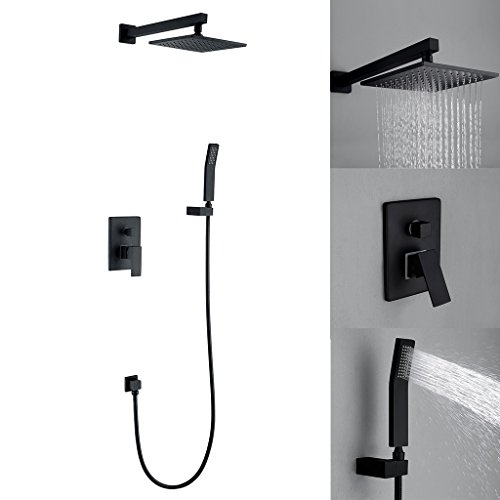 Wall Mounted Shower Faucet Set with 8