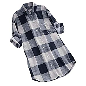 Canifon Women's T-Shirts Short Sleeve V-Neck Casual Blouses Loose Solid Color Plus Size Bat Sleeves Linen Summer Retro Tunic Tops