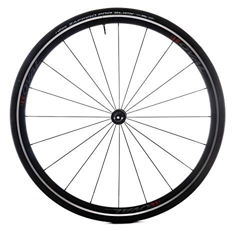 (Oval Concepts 327 700c Alloy Road Bike Front Wheel Clincher + Tire Red QR)